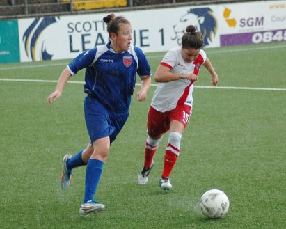 Jade McLaren in action in the recent Scottish Cup tie against Spartans