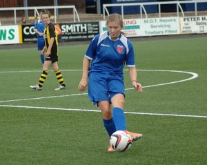 Megan Burns in action last season