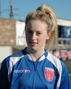 Goalscorer Lindsey Dunbar