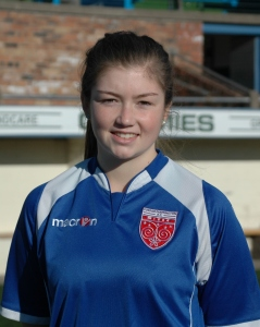 Forfar Farmington defender Megan Burns